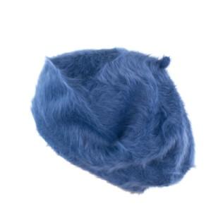Angorowy beret z długim włosem