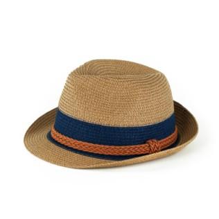 Miękki kapelusz trilby na lato z rzemykiem