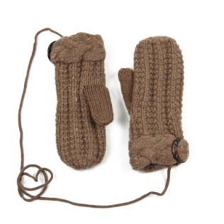 Rękawiczki jednopalczaste z guzikiem