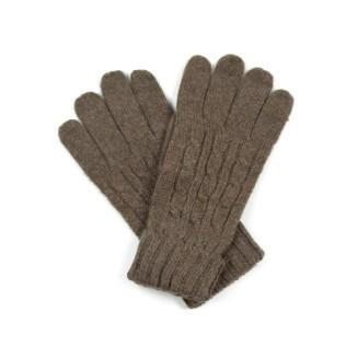 Wełniane rękawiczki z warkoczem