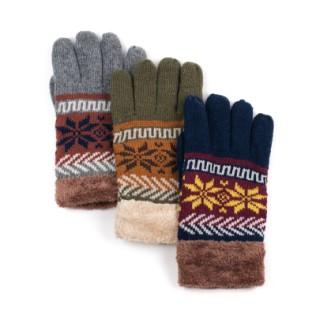 Rękawiczki w gwiazdki plus futerko