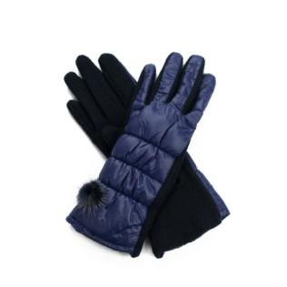 Rękawiczki wełniane i króliczy puszek